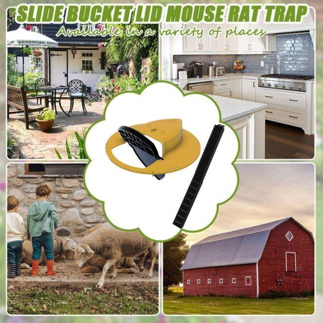 Auto Reset Flip Slide Bucket Lid Mouse/Rat Trap