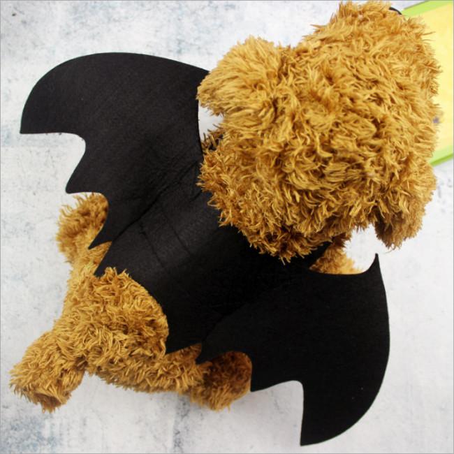 Halloween Pet Transformed Into A Teddy Puppy Cat Black Bat