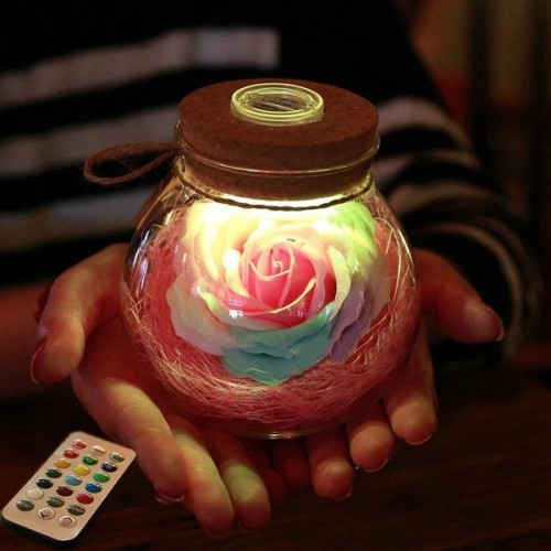 Bloom - LED Rose Bottle Lamp