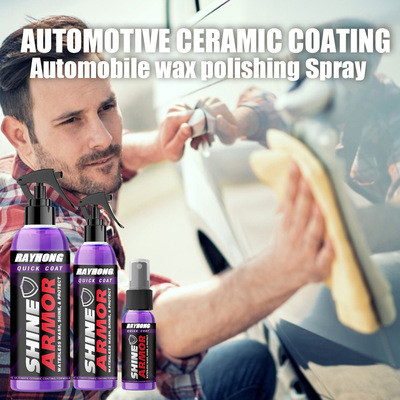 Car cleaning and polishing spray