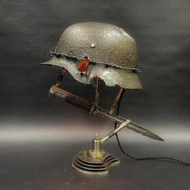 War Relic Lamp Remembering That History