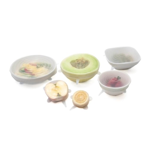 Zero-Waste Reusable Stretch & Seal Silicone Lids, Set of 6
