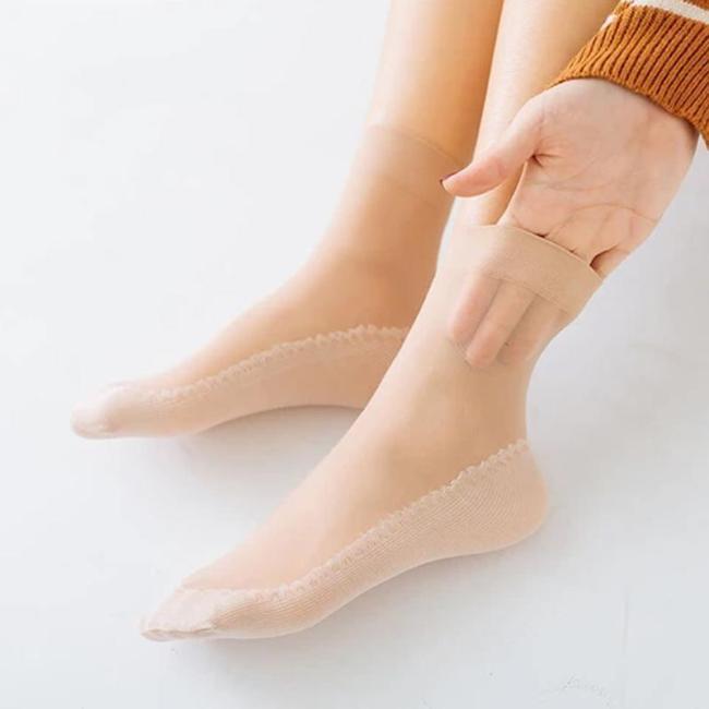 Silky Anti-Slip Cotton Socks (10Pairs)