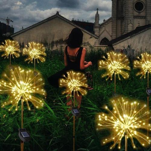 Waterproof Solar Garden Fireworks Lamp