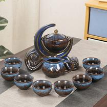 Household Kung Fu Tea Cup Ceramic Lid Bowl Teapot Set