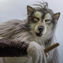 Hand made and painted - Realistic Werewolf Mask