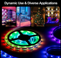 Home ambient lighting for parties and holidays