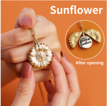 YOU ARE MY SUNFLOWER💗   Sunflower clasp chain