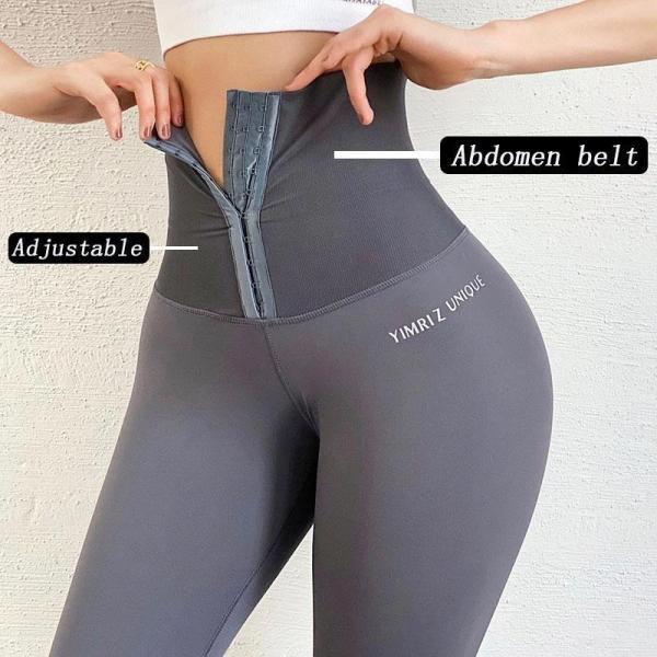 Ladies tummy tuck fitness butt lift pants