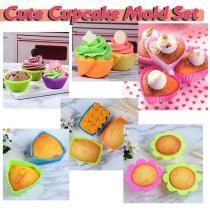 Cute Cupcake Mold (Set of 6)