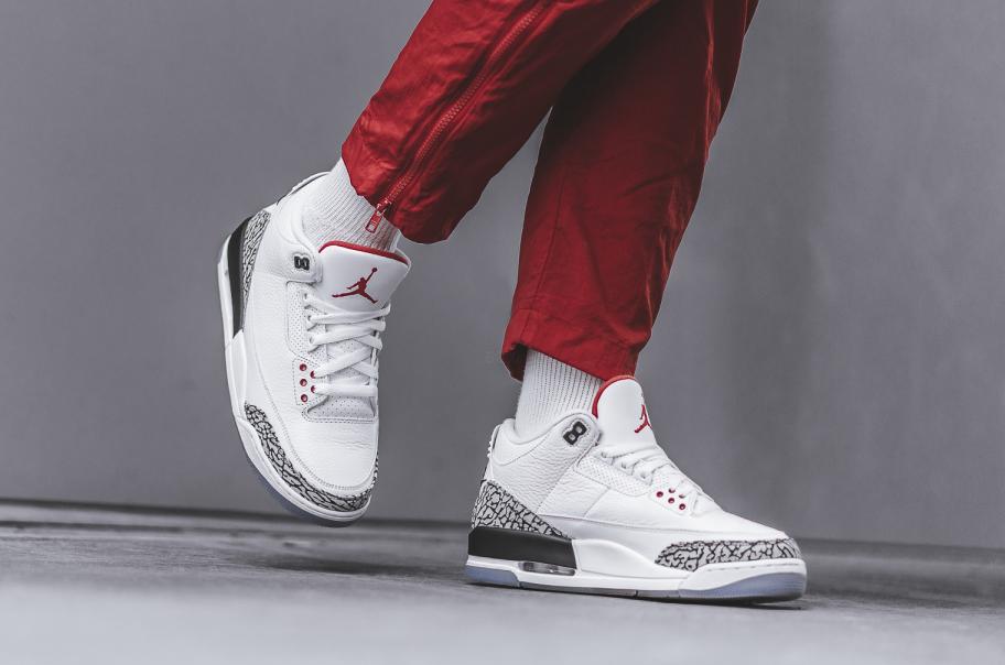 Jordan 3 Retro Free Throw Line White