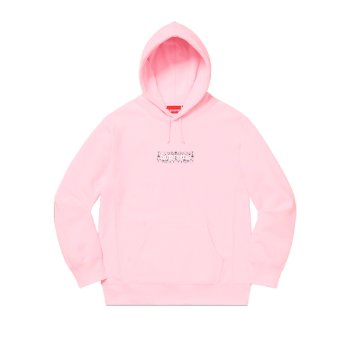 Supxxx Bandana Box Logo Hooded Sweatshirt Pink
