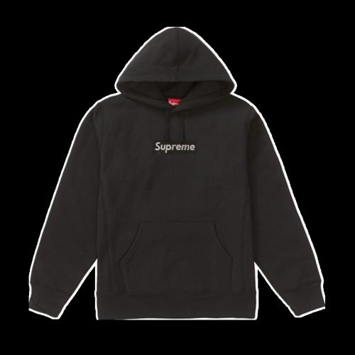Supxxx Swarovski Box Logo Sweatshirt Black