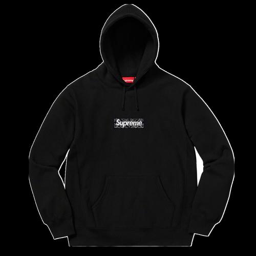 Supxxx Bandana Box Logo Hoodie Black