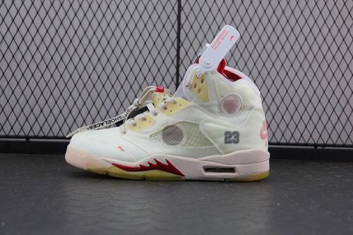 """Off-White x Air Jordan 5 """"Grape"""""""