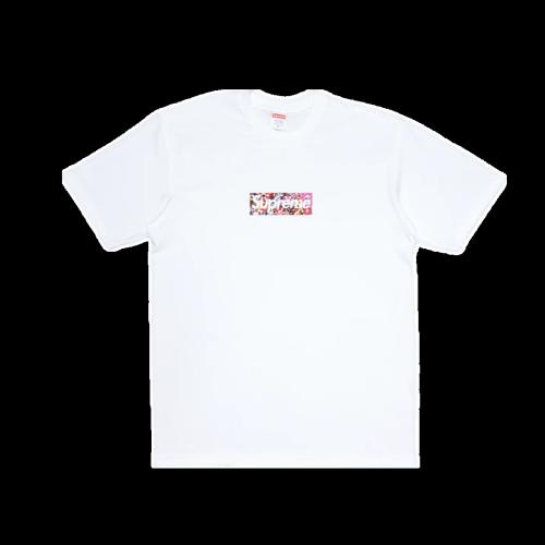 Supxxx Takashi Murakami COVID-19 Relief Box Logo Tee White