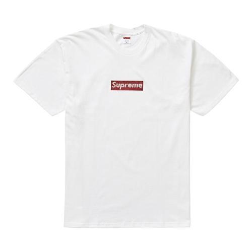 Supxxx Swarovski Box Logo Tee White
