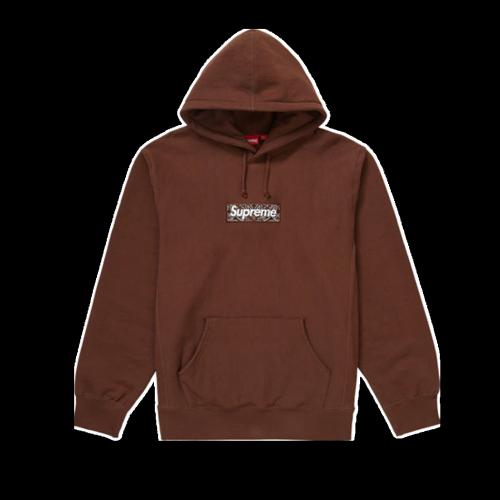 Supxxx Bandana Box Logo Hooded Sweatshirt Dark Brown