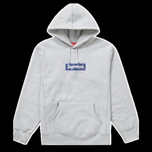 Supxxx Bandana Box Logo Hoodie Grey