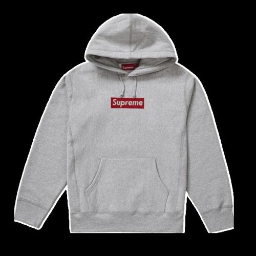 Supxxx Swarovski Box Logo Sweatshirt Gray