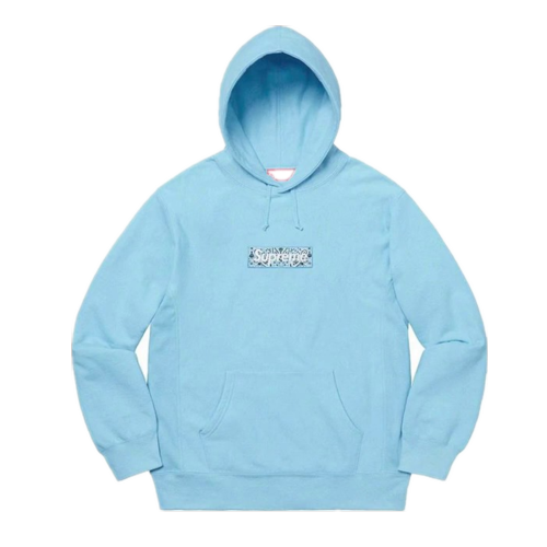 Supxxx Bandana Box Logo Hoodie Blue