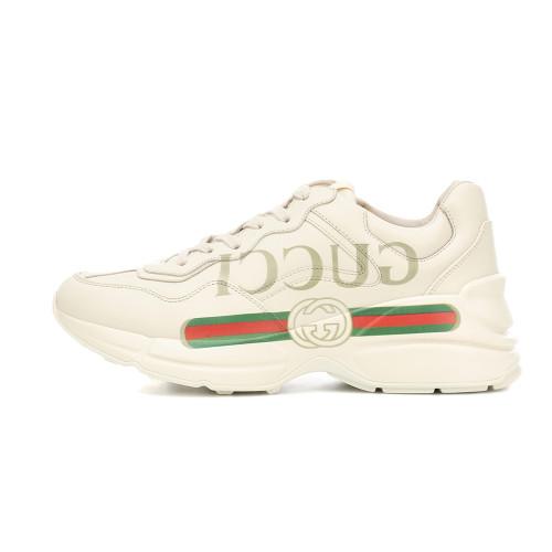 Guci Rhyton leather sneakers Guci logo