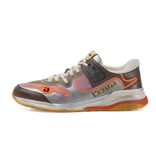 Guci Multicolor Men's Silver And Multicolor Ultrapace Sneakers In Grey
