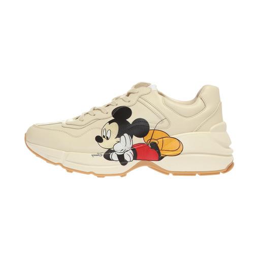 Guci White Disney x Gucci Rhyton sneaker