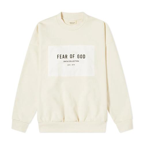 FEAR OF GOD PATCH LOGO CREW SWEAT
