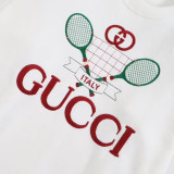 Guci embroidered sweatshirt White