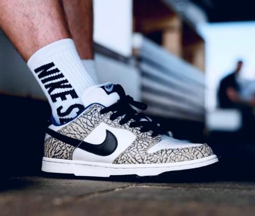 Nike SB Dunk Low Pro Supreme White Cement