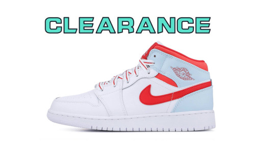 【Clearance】Jordan 1 Mid White Topaz Mist (US5.5)