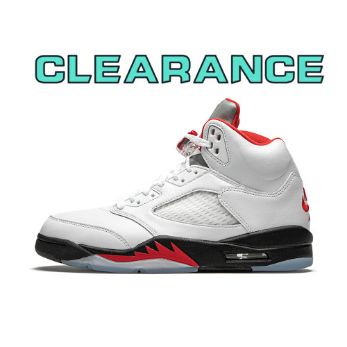 【Clearance】Jordan 5 Retro Fire Red Silver Tongue (US10)