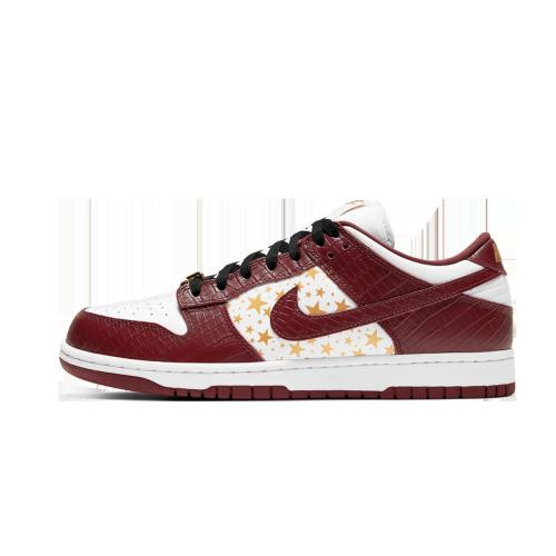 Supreme Nike SB Dunk Low White Barkroot Brown