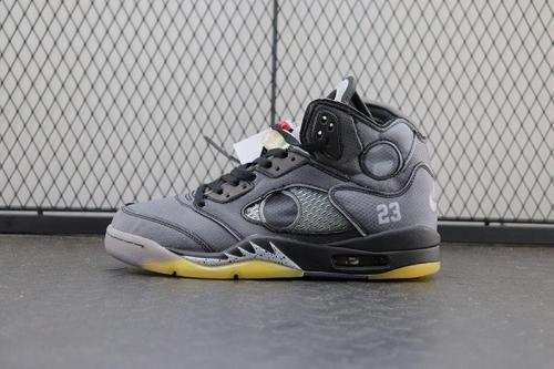 【Clearance】Jordan 5 Retro Off-White Black(US9)
