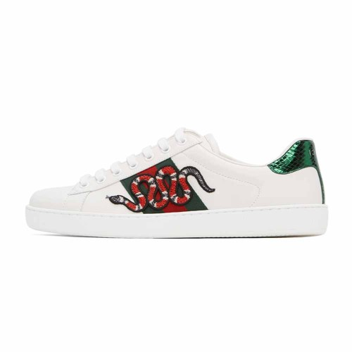 【Clearance】 Guci White Snake New Ace Sneakers(EU42=270MM)