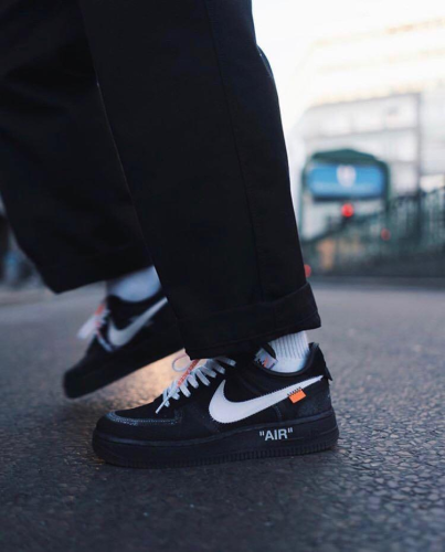 【Clearance】Air Force 1 Low Off-White Black White (with Brown Off-White Box)(US9)