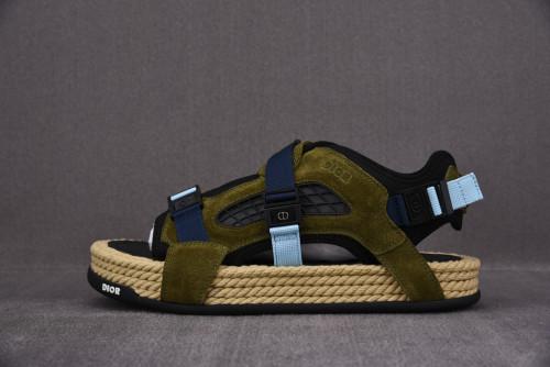 Dior Atlas Sandal Black/Khaki
