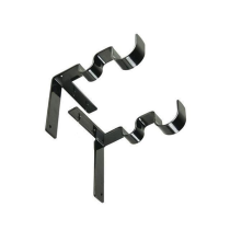 1 SET NO DRILL DOUBLE CURTAIN ROD BRACKETS HOLDERS