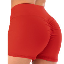 Red Fitness Yoga Shorts TQK520017-3