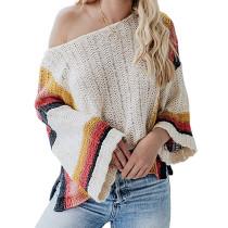 Apricot Splice Rainbow Ombre Knit Sweater TQK271055-18