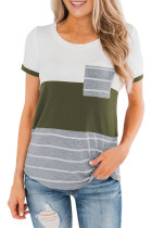 Green Right Here With Me Color Block Top LC253077-9