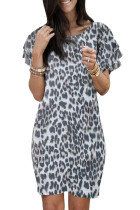 Pile Of Sleeves Leopard Dress LC221230-20