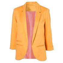 Orange 3/4 Sleeve Fashion Lady Suit TQD260025-14