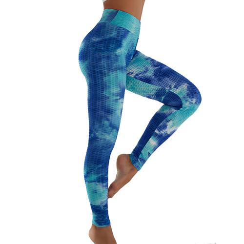 Aquamarin Tie Dye Leggings Yoga Pants TQK520020-45