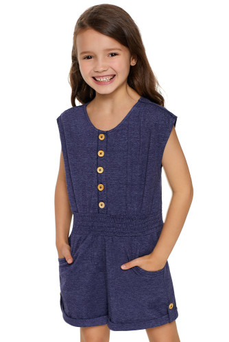 Blue Little Girls Cassie Romper TZ64010-5