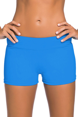 Blue Wide Waistband Swimsuit Bottom Shorts LC41946-105