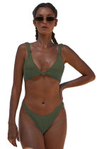 Green Knotted Two-piece Bikini Swimsuit LC411958-9