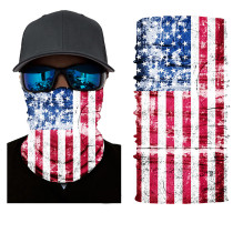 The USA Print Multifunction Outdoor Cycling Mask in Red TQZ910203-11