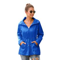 Blue Waterproof Slim Fit Outdoor Coat TQK280013-5